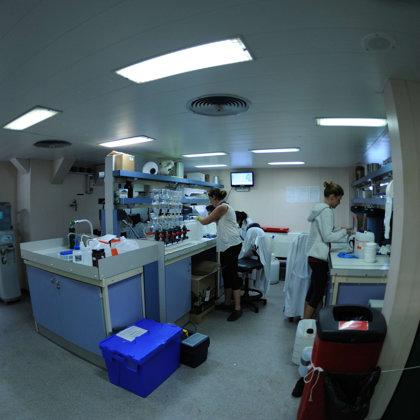 lab work. MODUPLAN cruise